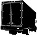 Rear View Truck Silhouette Royalty Free Stock Photos