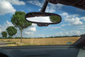 Rearview mirror inside the car Royalty Free Stock Photo