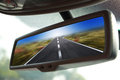 Rearview Mirror Traveling Royalty Free Stock Photo