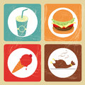 Reataurant icons restaurant over vintage background vectro illustration Stock Photo