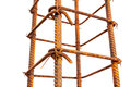 Rebar form tied for concrete detail isolated Royalty Free Stock Photos