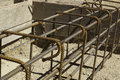 Rebar and forms tied for concrete Royalty Free Stock Photo