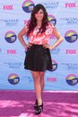 Rebecca black at the teen choice awards arrivals gibson amphitheatre universal city ca Stock Images