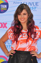 Rebecca black at the teen choice awards at the gibson amphitheatre universal city july los angeles ca picture paul smith Royalty Free Stock Image