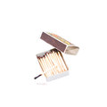 Rebel! Burned out! (concept made with box of matches) Royalty Free Stock Photo