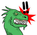 Rebel dragon Stock Image