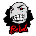 Rebel expression Stock Photography