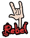 Rebel gesture creative design of Stock Images