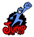 Rebel jump draw Stock Images