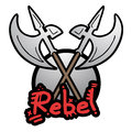 Rebel medieval weapon creative deign of Royalty Free Stock Photo