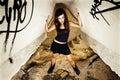 Rebel young girl Royalty Free Stock Image