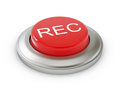 Rec button on white background with soft shadow Royalty Free Stock Image