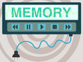 Recall the word memory with a pause play stop backward and forward controls Royalty Free Stock Photos