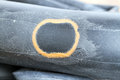 Recapped inner tube for bicycle Royalty Free Stock Photo