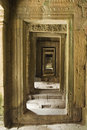 Receding Doorways at Angkor Royalty Free Stock Photos