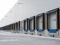 Receiving dock Doors Royalty Free Stock Photo
