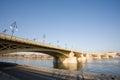 The recently renewed Margit bridge. Stock Image