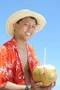 Recepción a la playa tropical Fotos de archivo libres de regalías