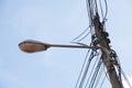 Recessed lighting pole Royalty Free Stock Photo