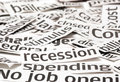 Recession Headlines Royalty Free Stock Photo