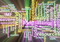 Recession wordcloud glowing Royalty Free Stock Photo