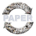 Recicl de papel Fotografia de Stock Royalty Free