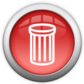 Recicl o ícone do escaninho Fotos de Stock Royalty Free
