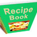 Recipe Book For Cookery Or Preparing Food Stock Image
