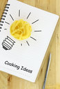 Recipe book creative cooking ideas Royalty Free Stock Photography