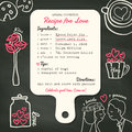 Recipe card creative Wedding Invitation design with cooking concept
