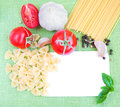 Recipe card with ingredients Royalty Free Stock Photo