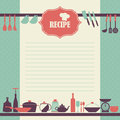 Recipe page design. Vintage style cooking book page Royalty Free Stock Photo