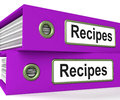 Recipes Folders Means Meals And Cooking Instructions Royalty Free Stock Photo