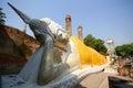 Recline buddha statues at wat yai chaimongkol ayutthaya thailand Royalty Free Stock Photos