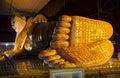 Reclining buddha the in chauk htat kyi pagoda yangon myanmar southeast asia Stock Photos