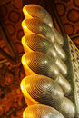 Reclining Buddha Foot Royalty Free Stock Photo