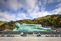Reclining buddha of fukuoka the nanzoin temple in japan Royalty Free Stock Image