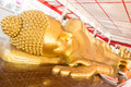 Reclining Buddha gold statue Royalty Free Stock Photo
