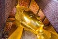 Reclining buddha golden bangkok thailand Royalty Free Stock Photography