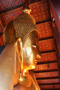 Reclining buddha image the most beautiful in thailand Stock Photos