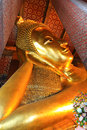 Reclining buddha image Royalty Free Stock Photo
