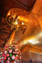Reclining buddha image the most beautiful in thailand Royalty Free Stock Image