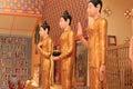 Reclining buddha at penang malaysia Royalty Free Stock Photography