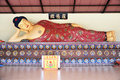 Reclining Buddha In A Temple Royalty Free Stock Photo