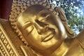 Reclining buddha in temple wat krom sihanoukville cambodia Stock Photos