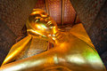 Reclining Buddha in Wat Pho Royalty Free Stock Images