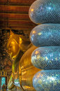 Reclining buddha wat pho bangkok thailand giant Stock Photo