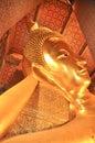 Reclining buddha in wat pho bangkok thailand january reclining buddha in wat pho on january Stock Images
