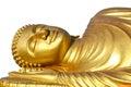 Reclining buddha on white background Royalty Free Stock Photo