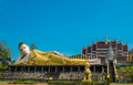 Reclining image of buddha the in northern thailand Stock Photo